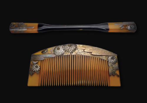Ornate hairpin and comb from the early days